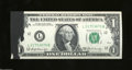 Error Notes:Ink Smears, Fr. 1905-L $1 1969-B Federal Reserve Note. Gem Crisp ...