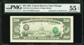 Error Notes:Third Printing on Reverse, Overprint on Back Error Fr. 2123-G $50 1988 Federal Reserve Note. PMG About Uncirculated 55 EPQ.. ...