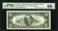 Face to Back Offset Printing Error Fr. 2023-B $10 1977 Federal Reserve Note. PMG Gem Uncirculated 66 EPQ