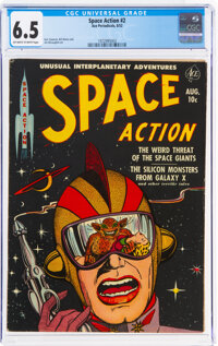 Space Action #2 (Ace, 1952) CGC FN+ 6.5 Off-white to white pages