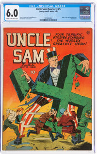 Uncle Sam Quarterly #5 (Quality, 1942) CGC FN 6.0 Cream to off-white pages