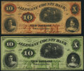 Obsoletes By State:Maryland, Cumberland, MD- Allegany County Bank $10 (2) 1860-62 G8b; G8d Fine or Better.. ... (Total: 2 notes)