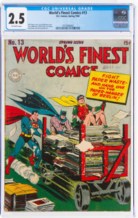 World's Finest Comics #13 (DC, 1944) CGC GD+ 2.5 Off-white pages