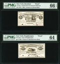 Brooklyn, NY- Farmers & Citizens Bank. 5¢ Oct. 15, 1862. Proof. PMG Gem Uncirculated 66 EPQ; Poughkeepsie, NY-...