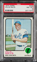 Baseball Cards:Singles (1970-Now), 1973 Topps Willie Mays #305 PSA NM-MT 8....
