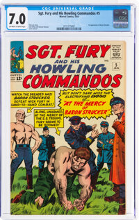 Sgt. Fury and His Howling Commandos #5 (Marvel, 1964) CGC FN/VF 7.0 Off-white to white pages
