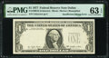 Error Notes:Inking Errors, Insufficient Inking of Third Printing Error Fr. 1909-K $1 1977 Federal Reserve Note. PMG Choice Uncirculated 63 EPQ.. ...