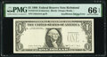 Error Notes:Inking Errors, Insufficient Inking of Third Printing Error Fr. 1914-E $1 1988 Federal Reserve Note. PMG Gem Uncirculated 66 EPQ.. ...