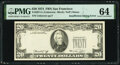 Error Notes:Inking Errors, Insufficient Inking of Third Printing Error Fr. 2071-L $20 1974 Federal Reserve Note. PMG Choice Uncirculated 64.. ...