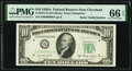 Small Size:Federal Reserve Notes, Radar Serial Number 80000008 Fr. 2011-D $10 1950A Federal Reserve Note. PMG Gem Uncirculated 66 EPQ.. ...