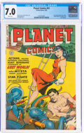 Golden Age (1938-1955):Science Fiction, Planet Comics #62 (Fiction House, 1949) CGC FN/VF 7.0 White pages....