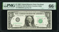 Small Size:Federal Reserve Notes, Fancy Serial Number 00033333 Fr. 1900-D $1 1963 Mule Federal Reserve Note. PMG Gem Uncirculated 66 EPQ.. ...