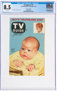 TV Guide V1#1 New England Edition (TV Guide Magazine Group, Inc., 1953) CGC VF+ 8.5 White pages