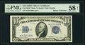 Small Size:Silver Certificates, Fr. 1705* $10 1934D Wide Silver Certificate Star. PMG Choice About Unc 58 EPQ.. ...