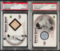 Baseball Cards:Lots, 2001 UD Sweet Spot Mickey Mantle Game Bat & Game Jersey PSA Mint 9 Graded Pair (2)....
