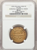 Hard Times Tokens, (1836-38) Token Doremus, Suydam & Nixon, New York, NY., HT-258, R.4, MS62 NGC. Brass. Ex: John J. Ford Jr....