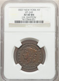 Hard Times Tokens, 1837 Token J. H. Dayton's, New York, NY., HT-249, R.3, XF40 NGC. Copper, plain edge, 28mm....