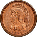 Canada:Quebec, Canada: Anticosti Island Pattern 1/8 Penny 1870 MS64 Red and Brown NGC,...