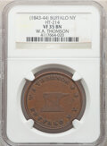Hard Times Tokens, (1843-44) Token W. A. Thomson, Buffalo, NY., HT-214, R.3, Miller-NY-26, VF35 NGC. Copper, reeded edge, 38 mm....