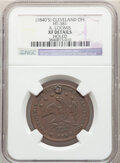 Hard Times Tokens, (1840's) Token A. Loomis, Cleveland, OH, HT-381, R.5, -- Holed -- NGC Details. XF. Copper, plain edge, 30mm....