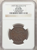 Hard Times Tokens, (1837) Token T. Duseaman, Belleville, NJ., HT-204, R.2, XF45 NGC. Copper, plain edge, 28 mm....