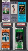 Football Collectibles:Tickets, 2002-07 Super Bowl Full Tickets, Lot of 5....