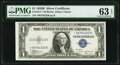 Small Size:Silver Certificates, Fr. 1611* $1 1935B Silver Certificate Star. PMG Choice Uncirculated 63 EPQ.. ...