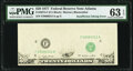 Error Notes:Inking Errors, Insufficient Inking of Face Printing Error Fr. 2072-F $20 1977 Federal Reserve Note. PMG Choice Uncirculated 63 EPQ.. ...