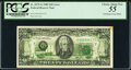 Error Notes:Offsets, Full Back to Face Offset Error Fr. 2075-G $20 1985 Federal Reserve Note. PCGS Choice About New 55.. ...