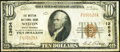 National Bank Notes:West Virginia, Weston, WV - $10 1929 Ty. 1 The Weston National Bank Ch. # 13634 Fine.. ...
