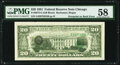Error Notes:Third Printing on Reverse, Third Printing on Back Error Fr. 2073-G $20 1981 Federal Reserve Note. PMG Choice About Unc 58.. ...