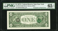 Third Printing on Back Error Fr. 1910-B $1 1977A Federal Reserve Note. PMG Gem Uncirculated 65 EPQ