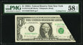 Error Notes:Miscellaneous Errors, Cutting Error Fr. 1915-B $1 1988A Federal Reserve Note. PMG Choice About Unc 58 EPQ.. ...