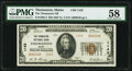 National Bank Notes:Maine, Thomaston, ME - $20 1929 Ty. 2 The Thomaston National Bank Ch. # 1142 PMG Choice About Unc 58.. ...