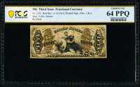 Fr. 1352 50¢ Third Issue Justice PCGS Banknote Choice Unc 64 PPQ