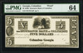 Obsoletes By State:Georgia, Columbus, GA- Insurance Bank of Columbus $5 18__ Haxby Unlisted Proof PMG Choice Uncirculated 64.. ...