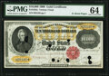 Fr. 1225c $10,000 1900 Gold Certificate PMG Choice Uncirculated 64