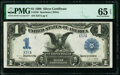 Large Size:Silver Certificates, Low Serial X37A Fr. 236 $1 1899 Silver Certificate PMG Gem Uncirculated 65 EPQ.. ...