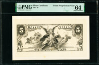 Front Progressive Proof $5 1897 Silver Certificate PMG Choice Uncirculated 64