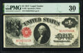 Large Size:Legal Tender Notes, Fr. 39 $1 1917 Legal Tender PMG Very Fine 30.. ...