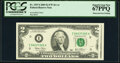Error Notes:Obstruction Errors, Obstructed Face Printing Error Fr. 1937-I $2 2003 Federal Reserve Note. PCGS Superb Gem New 67PPQ.. ...