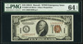 Small Size:World War II Emergency Notes, Fr. 2303 $10 1934A Hawaii Federal Reserve Note. PMG Choice Uncirculated 64 EPQ.. ...