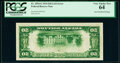 Error Notes:Inverted Reverses, Inverted Back Error Fr. 2054-G $20 1934 Light Green Seal Federal Reserve Note. PCGS Very Choice New 64.. ...
