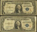 Small Size:Silver Certificates, Fr. 1609 $1 1935A R Silver Certificate. Very Good;. Fr. 1610 $1 1935A S Silver Certificate. Very Good.. ... (Total: 2 notes)