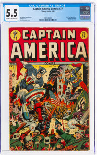 Captain America Comics #37 (Timely, 1944) CGC FN- 5.5 Cream to off-white pages