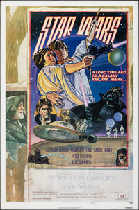 """Star Wars (20th Century Fox, 1978). Rolled, Very Fine. One Sheet (27"""" X 41"""") Style D, Charles White III &..."""