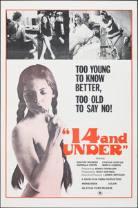 "14 and Under & Other Lot (Atlas, 1973). Folded, Very Fine-. One Sheets (2) (27"" X 41""/28"" X 42"")..."