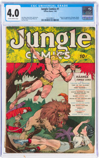 Jungle Comics #1 (Fiction House, 1940) CGC VG 4.0 Slightly brittle pages