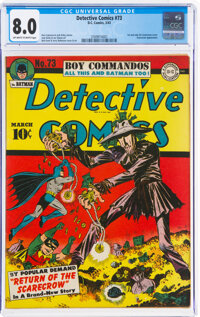 Detective Comics #73 (DC, 1943) CGC VF 8.0 Off-white to white pages