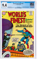 Silver Age (1956-1969):Superhero, World's Finest Comics #94 (DC, 1958) CGC NM 9.4 Off-white to white pages....